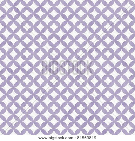Purple And White Interconnected Circles Tiles Pattern Repeat Background
