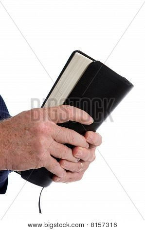 Missionary Holding Bible