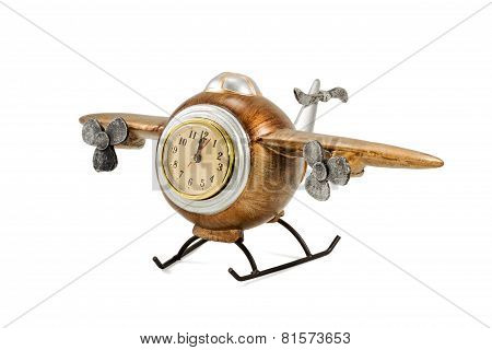Decorative Airplane With Clock