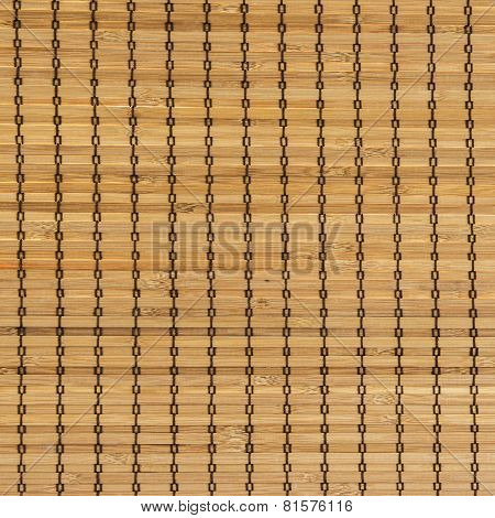 Close up of chinese bamboo blind texture