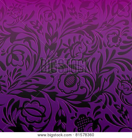 Purple Seamless Floral Pattern