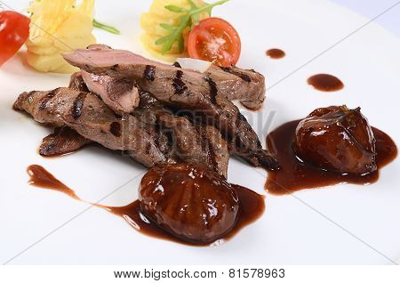 Tenderloin Of Veal With A Sauce Of Figs