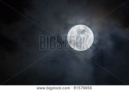 brightness of the moon