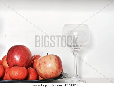 Cup with fruits
