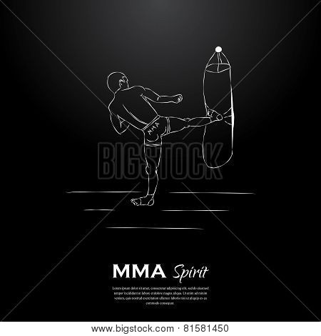 MMA spirit fighter and punching bag