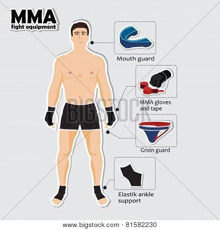 Sport equipment for mixed martial arts