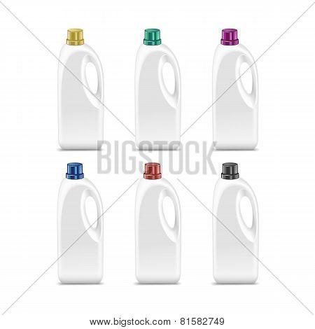 Vector Set of Blank Plastic Jerrycan Canister