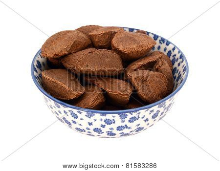 Brazil Nuts In A Blue And White China Bowl