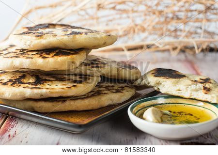 Homemade Indian Fried Naan Bread