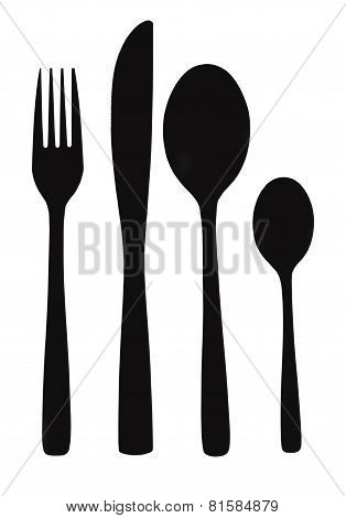 Fork, Knife And Spoon