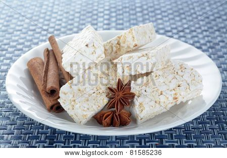 Puffed Rice Snack With Cinnamon