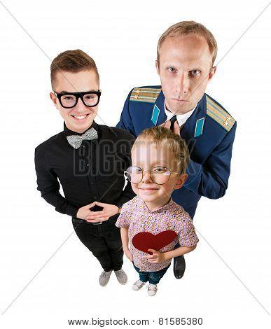 Three Funny Guys Portrait