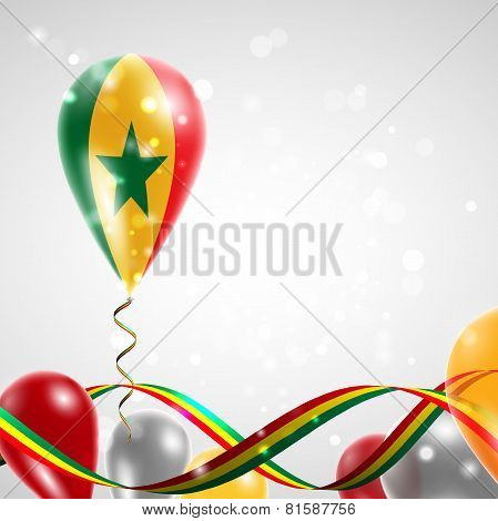 Flag of Senegal on balloon
