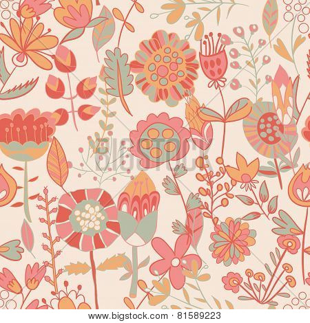 Flower Pattern, Seamless Texture