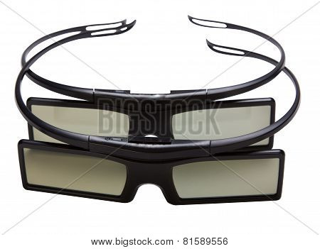 3D Glasses Isolated On White.