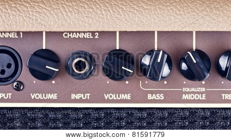 Guitar Amplifier Control Panel