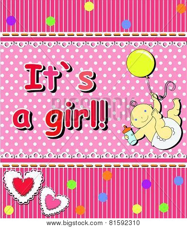 Card For The Birth Of A Child girl