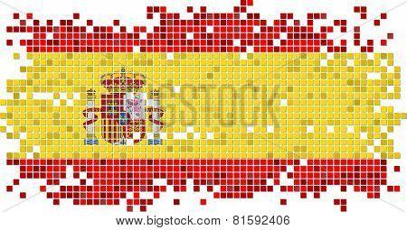 Spanish grunge tile flag. Vector illustration