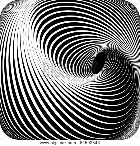Abstract op art design. Vector art.