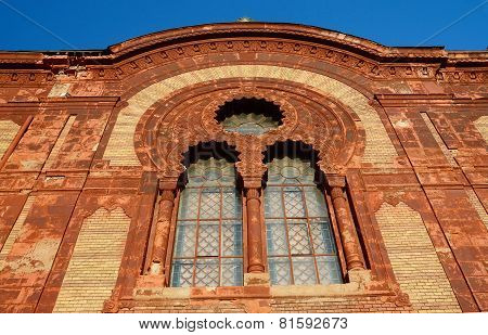 Beautiful Windows Of Old Synagogue In Uzhgorod, Zakarpattia,western Ukraine