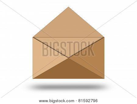 Illustration Of Blank Paper Envelope.