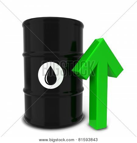 Oil Barrel With Green Arrow