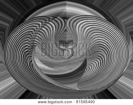 abstract black and white swirls