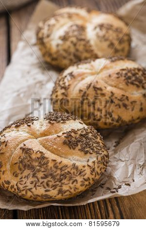 Rustic Rolls With Caraway