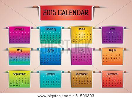 2015- Colorful Calendar