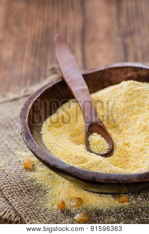 Cornmeal (on Rustic Background)