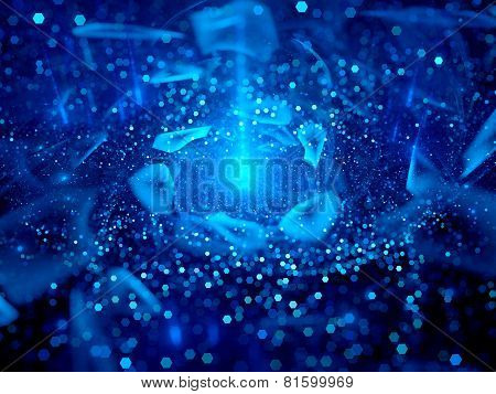 Blue Rotating Magical Objects