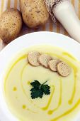 pic of italian parsley  - Italian potato and leek soup with olive oil parsley and croutons - JPG
