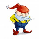 stock photo of gnome  - Cute cartoon gnome character for your design - JPG