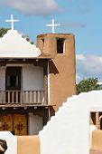 picture of pueblo  - San Geronimo Chapel in Taos Pueblo - JPG