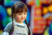 picture of playground school  - Portrait of beautiful young girl on the playground - JPG