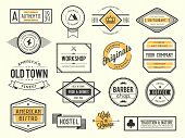 picture of barber  - set of vintage logos badges and labels vector illustration - JPG