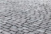 picture of paving  - patterned paving tiles of olf sreet square - JPG