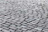image of paving  - patterned paving tiles of olf sreet square - JPG