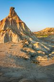 foto of unique landscape  - Unusual and unique landscape at Bardenas reales Navarra Spain - JPG