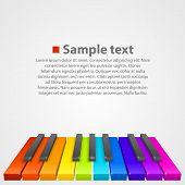 stock photo of rainbow piano  - Piano keys art creative cover - JPG