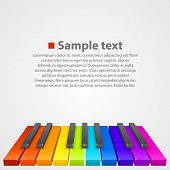 picture of rainbow piano  - Piano keys art creative cover - JPG