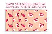 picture of angel devil  - Valentine day flat pattern set  - JPG