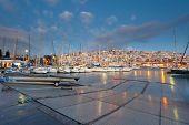 pic of piraeus  - Dawn in Mikrolimano marina in Athens - JPG