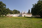 image of manor  - Abandoned manor in ruin in a ukrainian forest - JPG