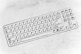 foto of qwerty  - computer or laptop keyboard  - JPG