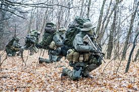 picture of raid  - Group of jagdkommando soldiers Austrian special forces during the raid - JPG