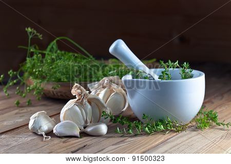 Garlic And  Green Spices