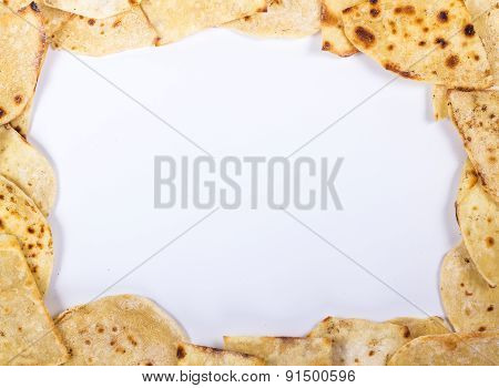 text frame of flat bread