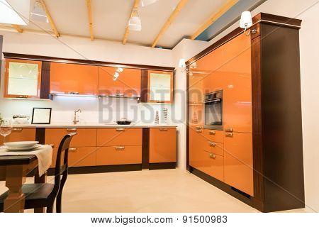 Spacious kitchen interior