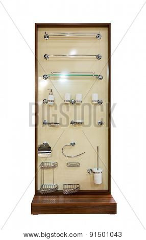 Shopwindow with shower tools
